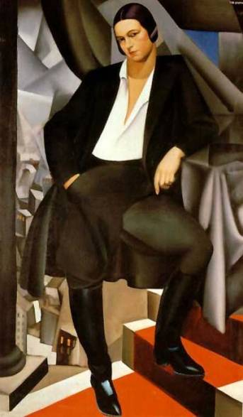 Tamara-de-Lempicka-Portrait-of-the-Duchess-of-La-Salle-Oil-Painting
